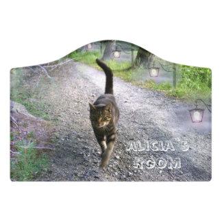 Katzen-Allee Türschild