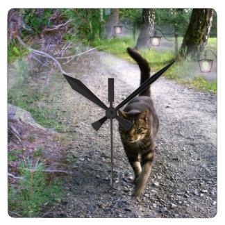 Katzen-Alleen-Wanduhr Wanduhren