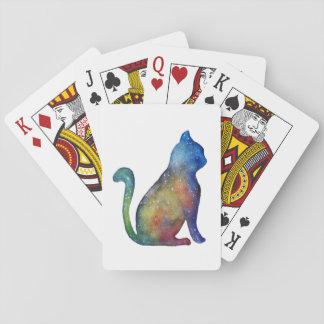 Katzen-Aquarell-klassische Spielkarten