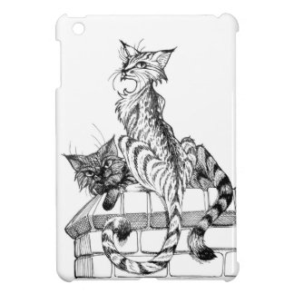 Katzen auf Wand I Hülle Für iPad Mini