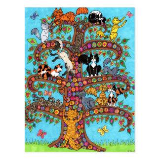 Katzen-Baum von Leben 2 Postkarte