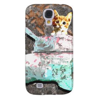 Katzen-Behälter Galaxy S4 Hülle