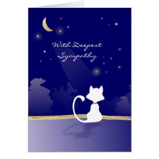 Katzen-Beileids-Karte - Mond und Sterne Karte