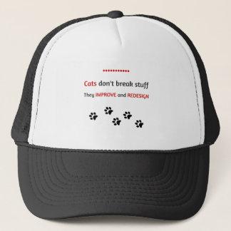 Katzen brechen nicht Material Truckerkappe