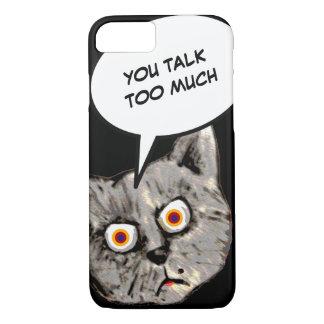 Katzen-Cartoon, sprechen Sie zu viel iPhone 8/7 Hülle