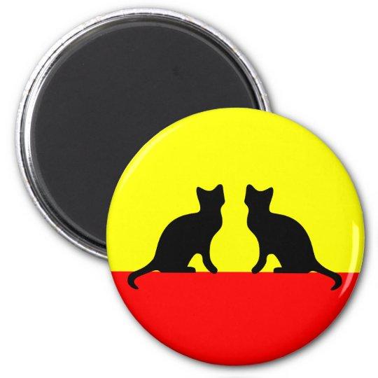 Katzen cats runder magnet 5,1 cm