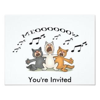 Katzen-Chor Individuelle Einladungskarte