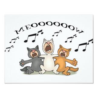 Katzen-Chor Ankündigungskarte