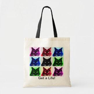 Katzen-Collagen-kleine Tasche