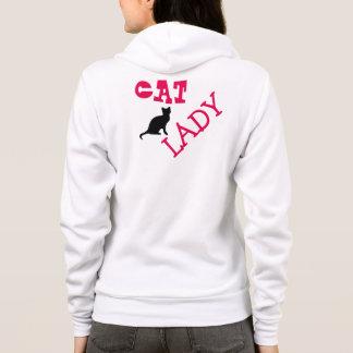 Katzen-Dame Hoodie