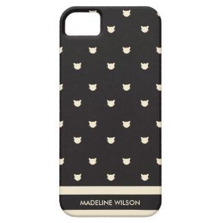 Katzen-Dame iPhone 5 5S Fall iPhone 5 Schutzhüllen