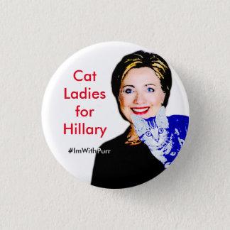 Katzen-Damen für rundes Knopf Hillary #ImWithPurr Runder Button 2,5 Cm