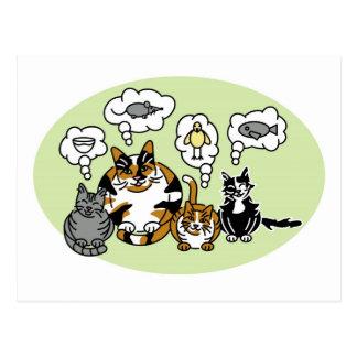 Katzen-Denken Postkarte
