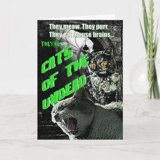 Katzen der untoten Halloween-Karte Karte