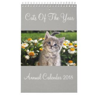Katzen des Jahr-jährlichen Kalenders 2018 Wandkalender