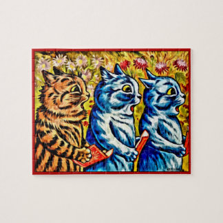 KATZEN, die Puzzlen, Katzen Louis Wains SINGEN Puzzle
