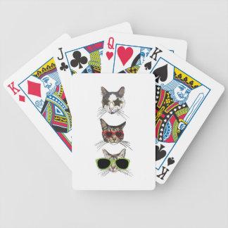 Katzen, die Sonnenbrille tragen Bicycle Spielkarten