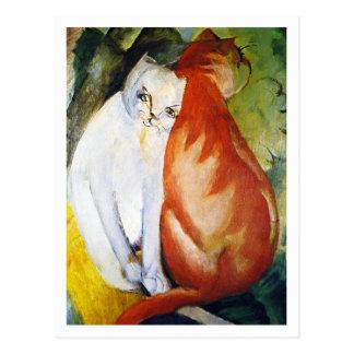 Katzen durch Franz Marc Postkarten