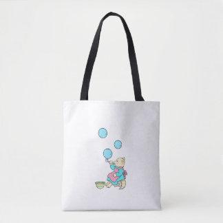 Katzen-durchbrennenblasen-Entwurf auf Tasche