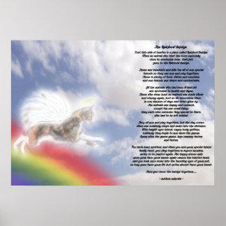 Katzen-Engel an der Regenbogen-Brücke Poster