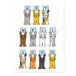 Katzen erhalten gut bald postkarten