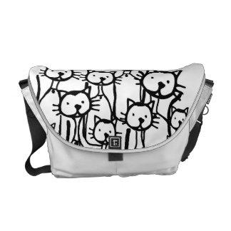 Katzen-Familie Kurier Taschen