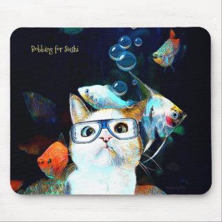 Katzen-Fisch-Sushi-Spaß-lustige Mousepad