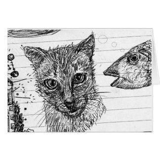 Katzen-Fisch-Traum Karte