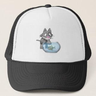 Katzen-Fischen Truckerkappe