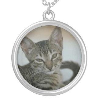 Katzen-Foto-Halskette Halskette Mit Rundem Anhänger