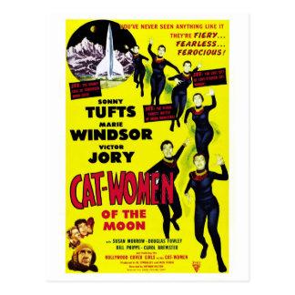 """""""Katzen-Frauen des Mondes"""" Postkarte"""