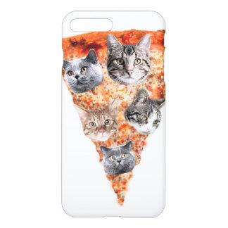 Katzen für den Pizza-Liebhaber iPhone 8 Plus/7 Plus Hülle