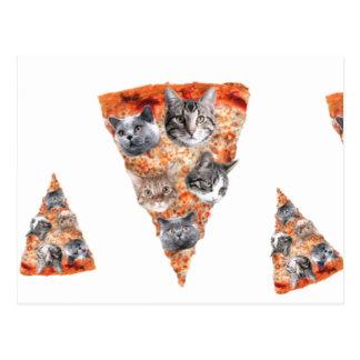 Katzen für den Pizza-Liebhaber Postkarte