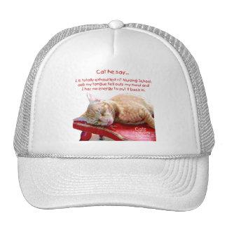 Katzen für die pflegenstudenten - erschöpft retrokultmützen