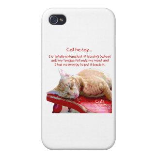 Katzen für die pflegenstudenten - erschöpft schutzhülle fürs iPhone 4