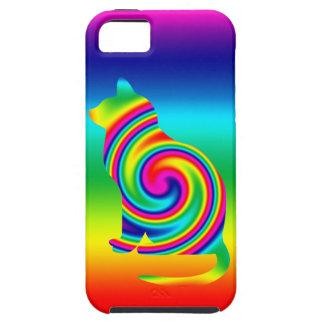 Katzen-geformte Regenbogen-Rotation iPhone 5 Hülle