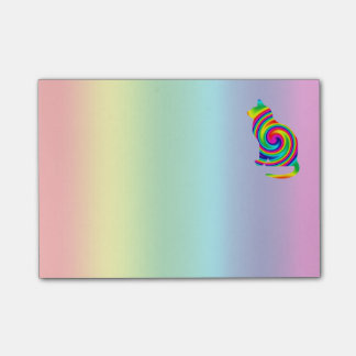 Katzen-geformte Regenbogen-Rotation Post-it Klebezettel