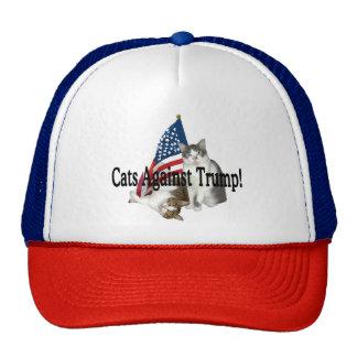 """Katzen gegen Trumpf"" Hut Baseballcaps"
