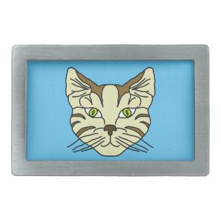 Katzen-Gesicht Rechteckige Gürtelschnalle