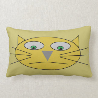 Katzen-Gesichts-Childish zeichnender Entwurf Lendenkissen