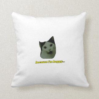 Katzen-glückliches Gesichts-Kissen Kissen