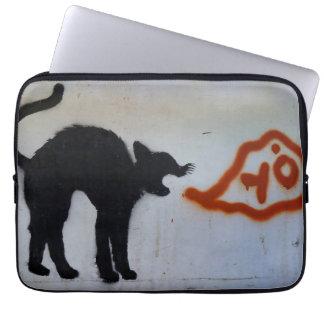 Katzen-Graffiti-Laptophülse Laptop Sleeve