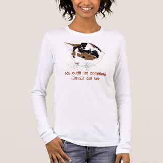 Katzen-Haar-Shirt Langarm T-Shirt