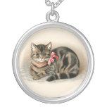 Katzen-hängender niedlicher Vintager Katzen-Halske