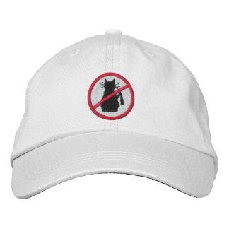 Katzen-Hasser-Logo gestickter Hut