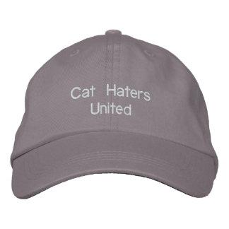 Katzen-Hasser vereinigt Bestickte Baseballcaps