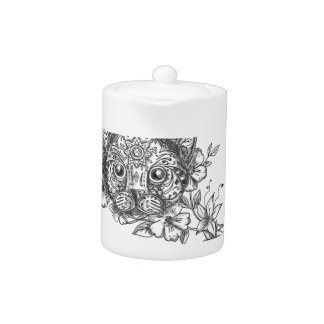 Katzen-Hauptjasmin-Blumen-Tätowierung