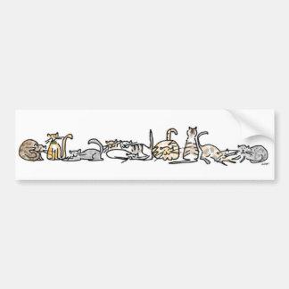 Katzen-Herden-Autoaufkleber Autoaufkleber