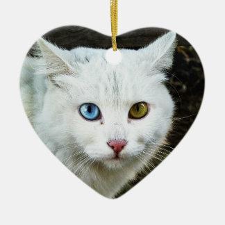 Katzen-Herz-Verzierung Keramik Ornament