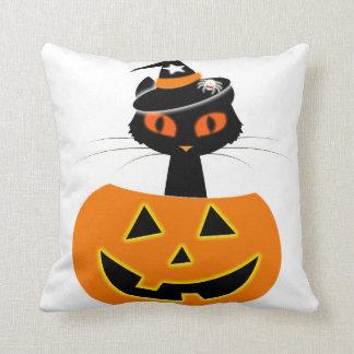 Katzen-Hexe-Halloween-Set Kissen